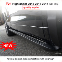 For Toyota Highlander 2015 2016 2017 Running Boards Side Step Side Bar Handsome Man Style Classical