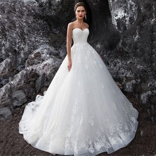 Eightale Wedding Dress Vintage Appliques Lace Sweetheart Ball Gown Wedding Gown Custom made Tulle Princess Bridal Dresses lovely tulle ball gown wedding dress 2019 new sweetheart lace appliques off shoulder court train princess church bridal dresses