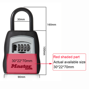 Image 3 - Ящик для хранения ключей Master Lock, открытый сейф для ключей, ящик для хранения ключей, замок с паролем, сплав материала, крючки для ключей, защитные Органайзеры