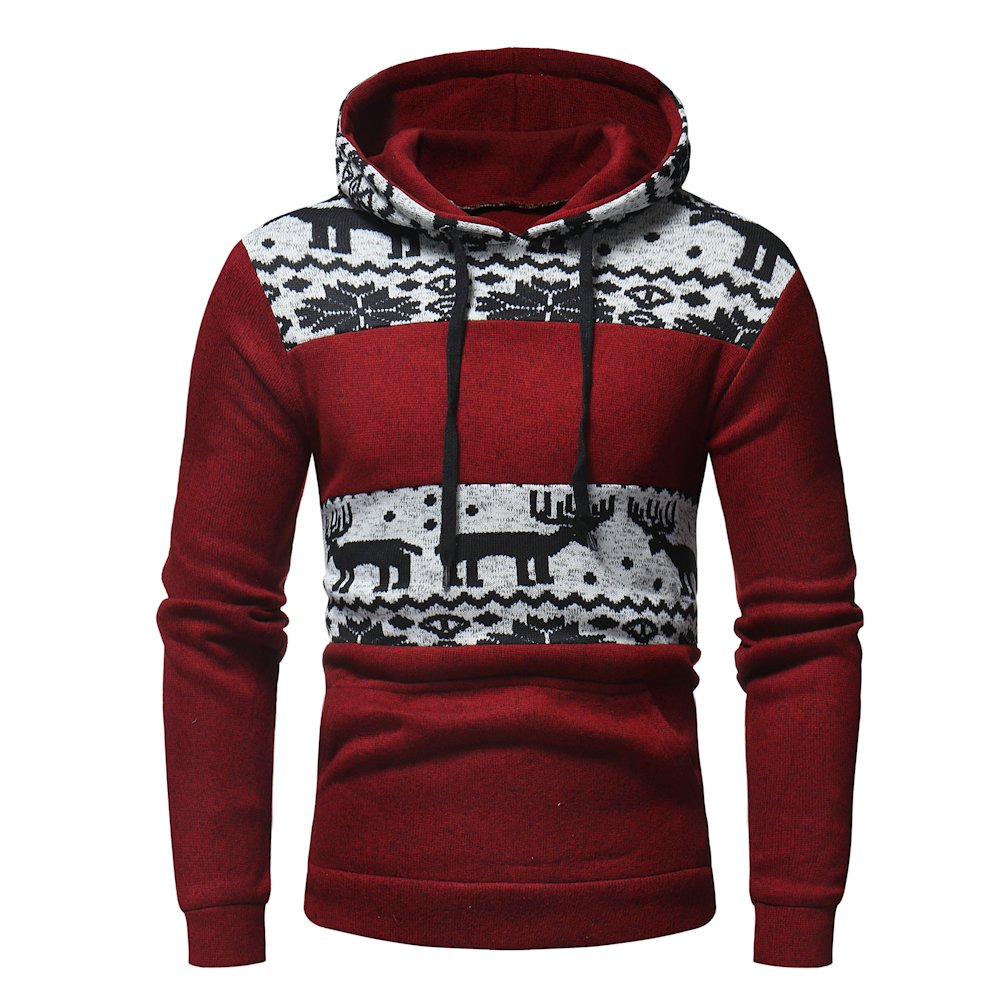 Christmas Snowflower Prints Pullover  5