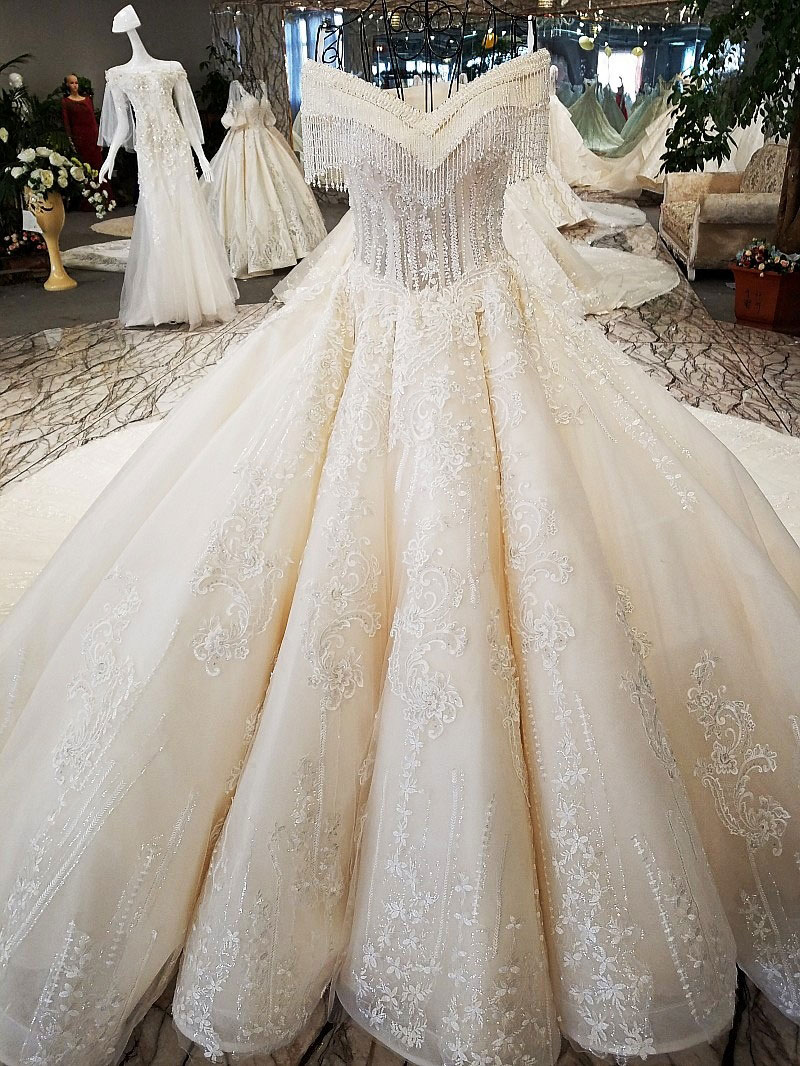 Image 2 - AIJINGYU Princess Wedding Dresses Luxury Real Sample Store Frocks 2018 Balls Summer Shopping Mexican Wedding DressWedding Dresses   -