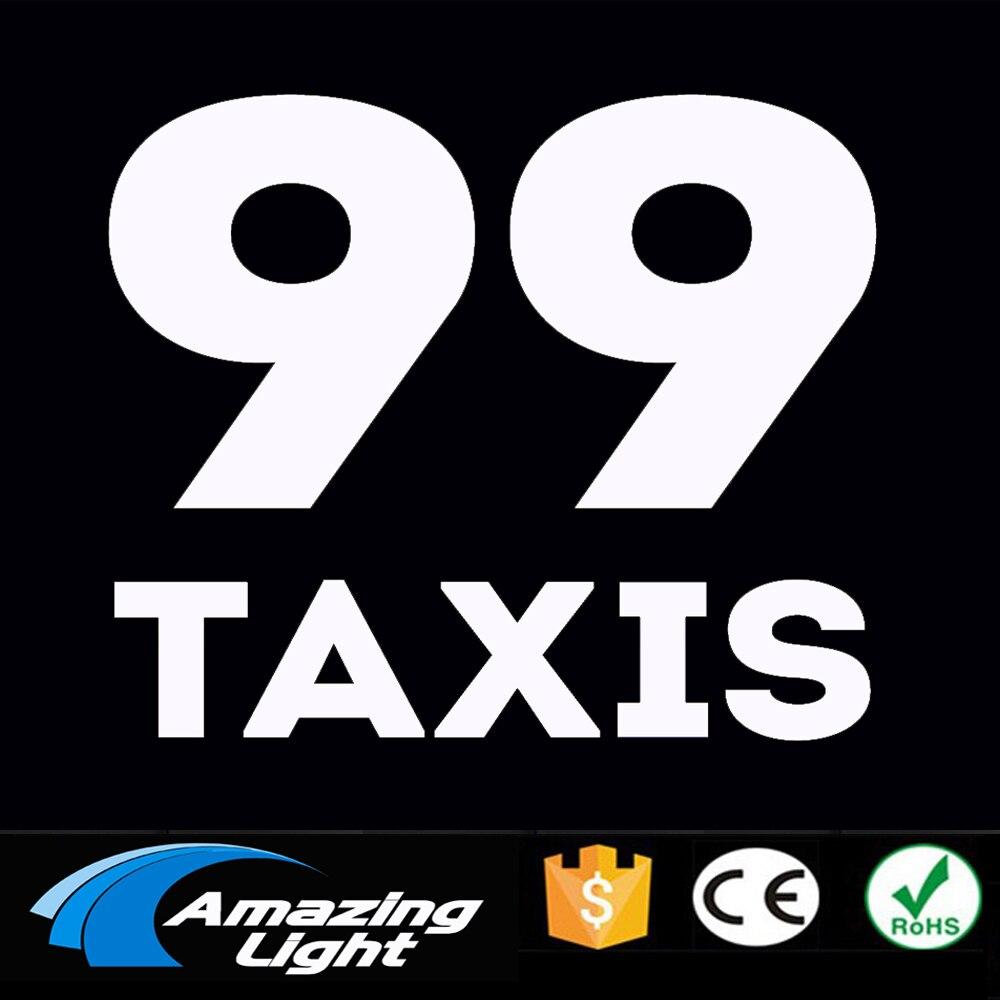 99 Taxi 10*10cm EL backlight car sticker el car panel el car sheet el foil with 2pcs AA battery Inverter неоновая продукция amazing 150 el el el 2pcs aa amazingw 118