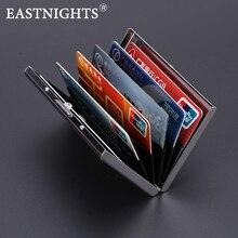 EASTNIGHTS 2017 new arrival High-Grade stainless steel men credit card holder women metal bank card case card box TW2703