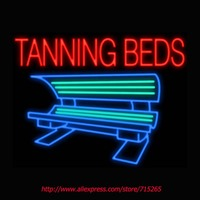 Tanning Beds Neon Signs Board Neon Bulbs Light Real GlassTube Handcrafted Beer Bar Pub Led Signs