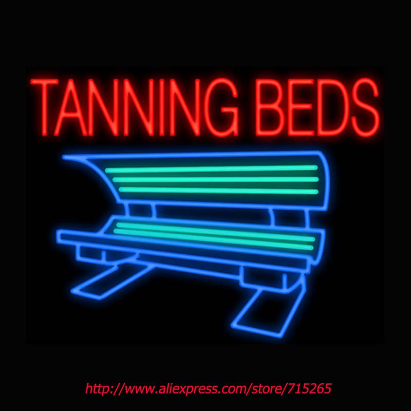 Tanning Beds Neon Signs Board Neon Bulbs Light Real GlassTube Handcrafted Beer Bar Pub Led Signs Business Shop Display 31x24