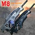 2017 Nueva M8 nerfe Ametralladora pistola de juguete Bala de juguete de agua ametralladora pistola de balas de cristal suave De Plástico Juguetes para niños cool regalos