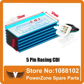 Wysoka wydajność 5 Pin Racing CDI dla 50cc 110cc 125cc do 160cc SSR Pit Dirt Bikes Pit Pro ATV quady motocykli darmowa wysyłka tanie i dobre opinie POWERZONE 5 Pin High Performance CDI Alloy