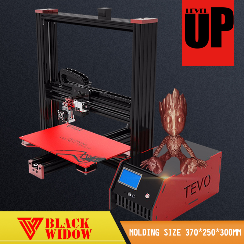 2017 Newest Affordable Tevo Black Widow 3d printer impresora Large Printing Area Free SD Card 3D Printer DIY Kit Using Usb &LCD 2017 classic tevo tarantula i3 aluminium extrusion 3d printer kit 3d printing 2 roll filament sd card titan extruder as gift