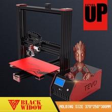 2017 neueste Affordable Tevo Black Widow 3d drucker impresora Große Druck bereich Kostenloser Sd-karte 3D Drucker DIY Kit Mit Usb & LCD