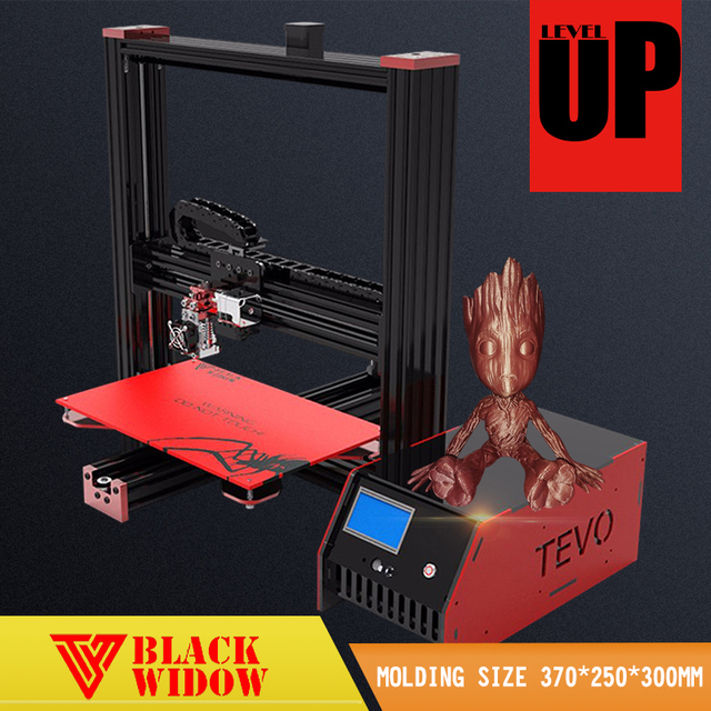 2017 Newest Affordable Tevo Black Widow 3d printer impresora Large Printing Area Free SD Card 3D Printer DIY Kit Using Usb &LCD