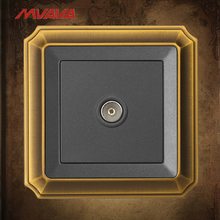 MVAVA TV Wall Decorative Receptacle Televion Cable Universal Socket Luxury Bronzed Panel Free Shipping