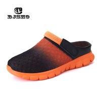 CBJSHO Boyutu 36-46 Unisex Terlik Ayakkabı Slip-on Plaj Çevirme Erkek Nefes Terlik Erkekler Yaz Sandalet örgü Işık Ayakkabı