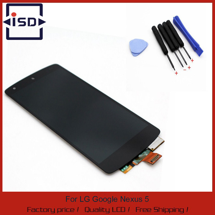 Black color For LG Google Nexus 5 D820 D821 lcd display Touch Screen with Digitizer Assembly with free tools Free shipping for lg google nexus 5 d820 d821 lcd display touch screen digitizer assembly with frame black tools free shipping