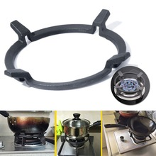 1PC Black Cast Iron Wok Pan Stand Support Rack For Burners G