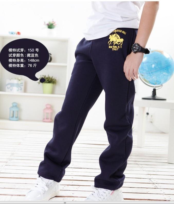Speciální cena 5-9T Boy Teplákové kalhoty Zimní kalhoty zimní - Dětské oblečení - Fotografie 3