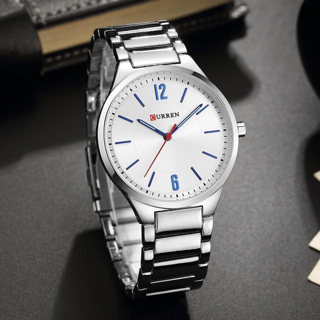 CURREN New Men Watch Top Brand Men's Fashion Gold Quartz Wrist Watches Male Stainless Steel Analog Sport Watch Relogio Masculino 3