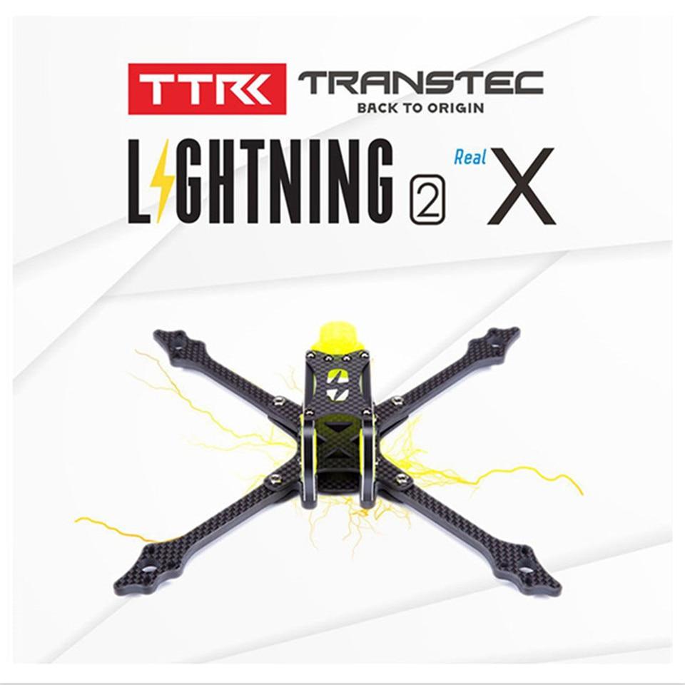 TransTEC lighting 2 X H lite 7075Alu Carbon Fiver Frame Kit Support 4S 6S 1000mah 1800mah Lipo Battery for FPV Racing Drone