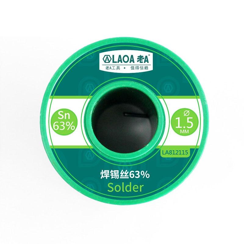 0 PCS 3mm 63percent 2 Soldering Welding Content Wire Tin 1 8 Wires Wire Solder LAOA Wick Solder 400G