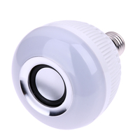 Wireless Bluetooth 12W E27 LED Speaker Bulb Music Playing 28 LED Bulb Light Lamp With 24