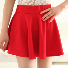 2016 Summer Autumn Nice style High waist Candy-colored hip sundresses small skirts pleated mini WoMen clothing sexy Skirts