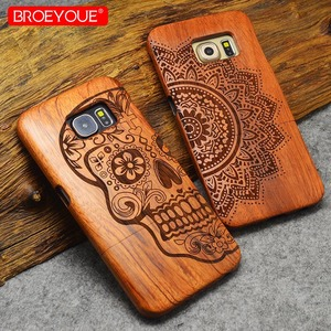 Image 2 - Full Wood Case For Samsung Galaxy S6 S7 S8 S9 Edge Plus 100% Retro Nature Bamboo Case For Samsung Galaxy Note 8 9 For iPhone XR