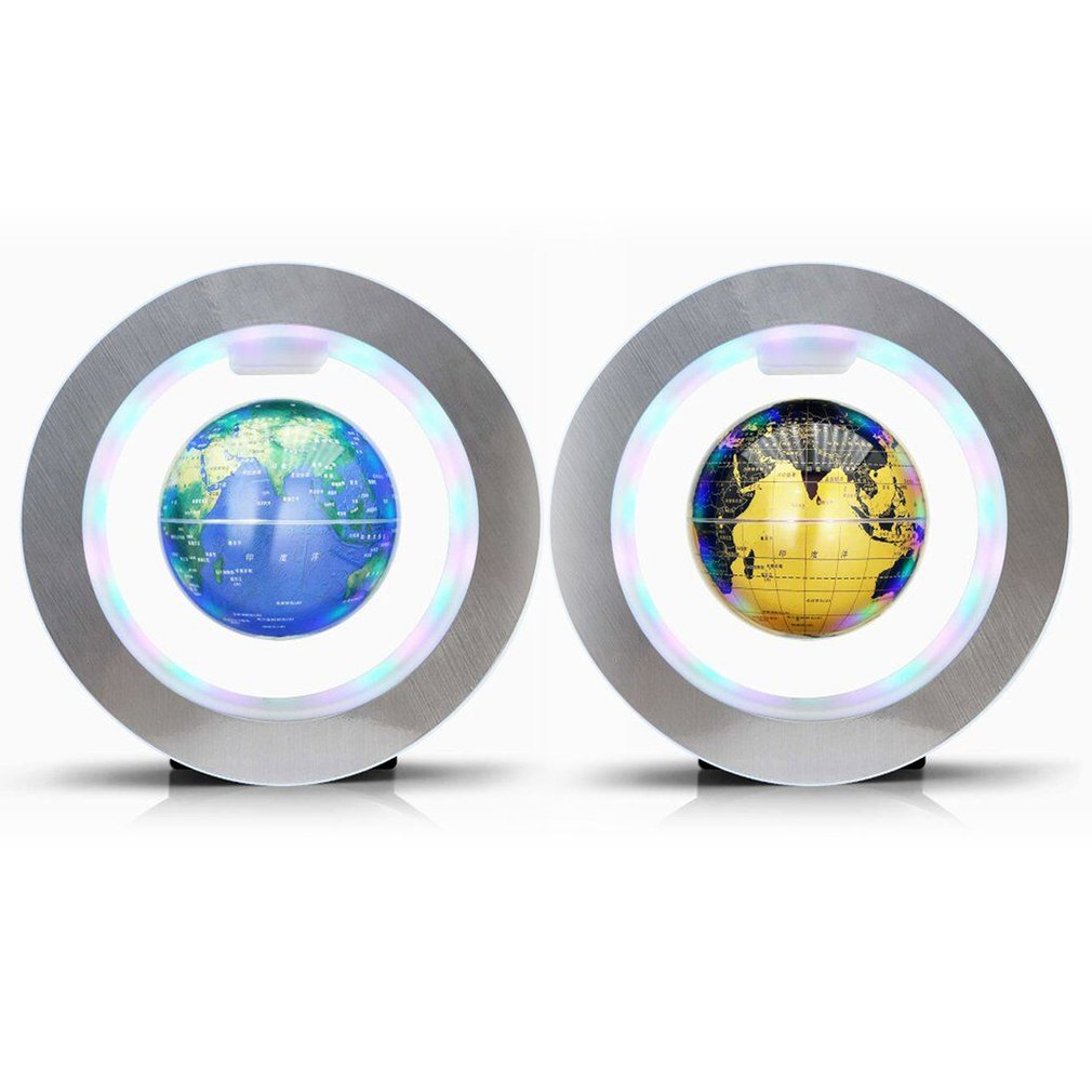 4 inch O Shape Base Floating Globe Magnetic Field Levitation With LED Lamp Tellurion Home Desktop Decor Perfect Crafts Gifts