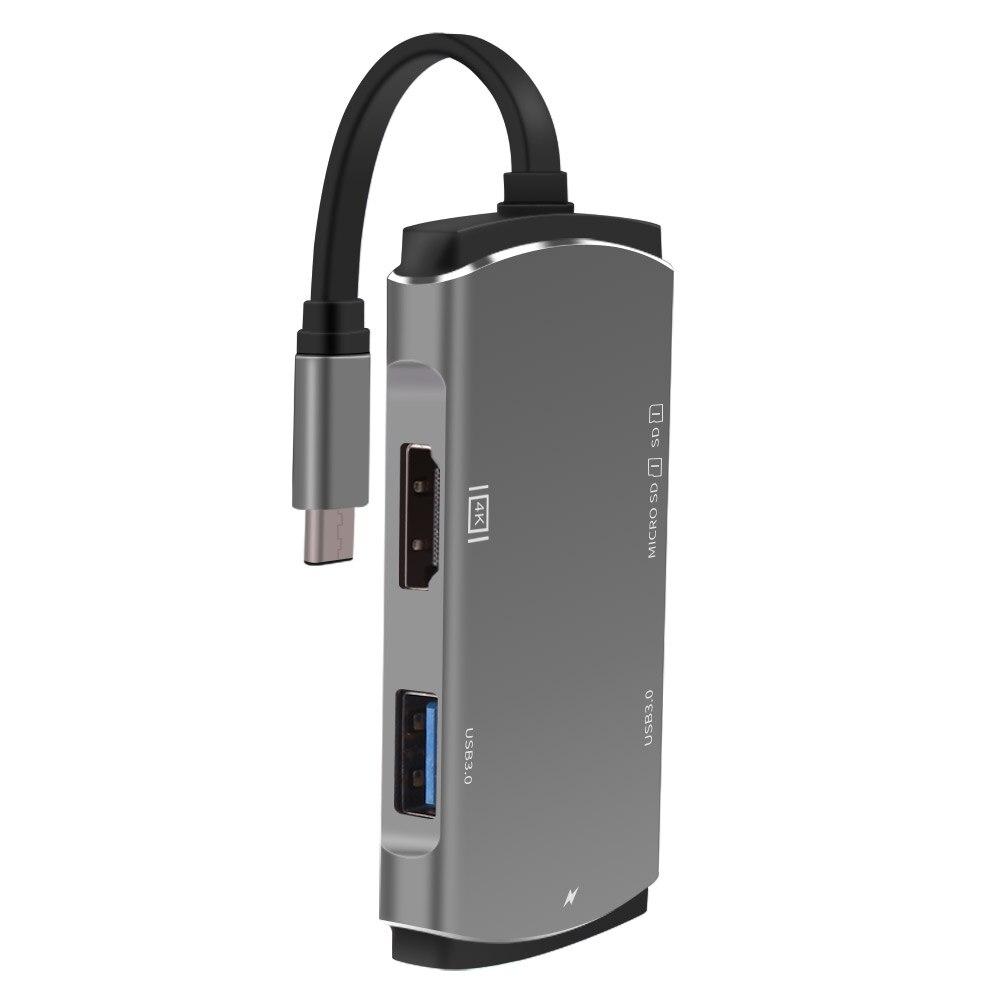 Aveiro USB HUB USB C to HDMI Thunderbolt 3 Adapter Type C USB 3 0 HUB in USB Hubs from Computer Office