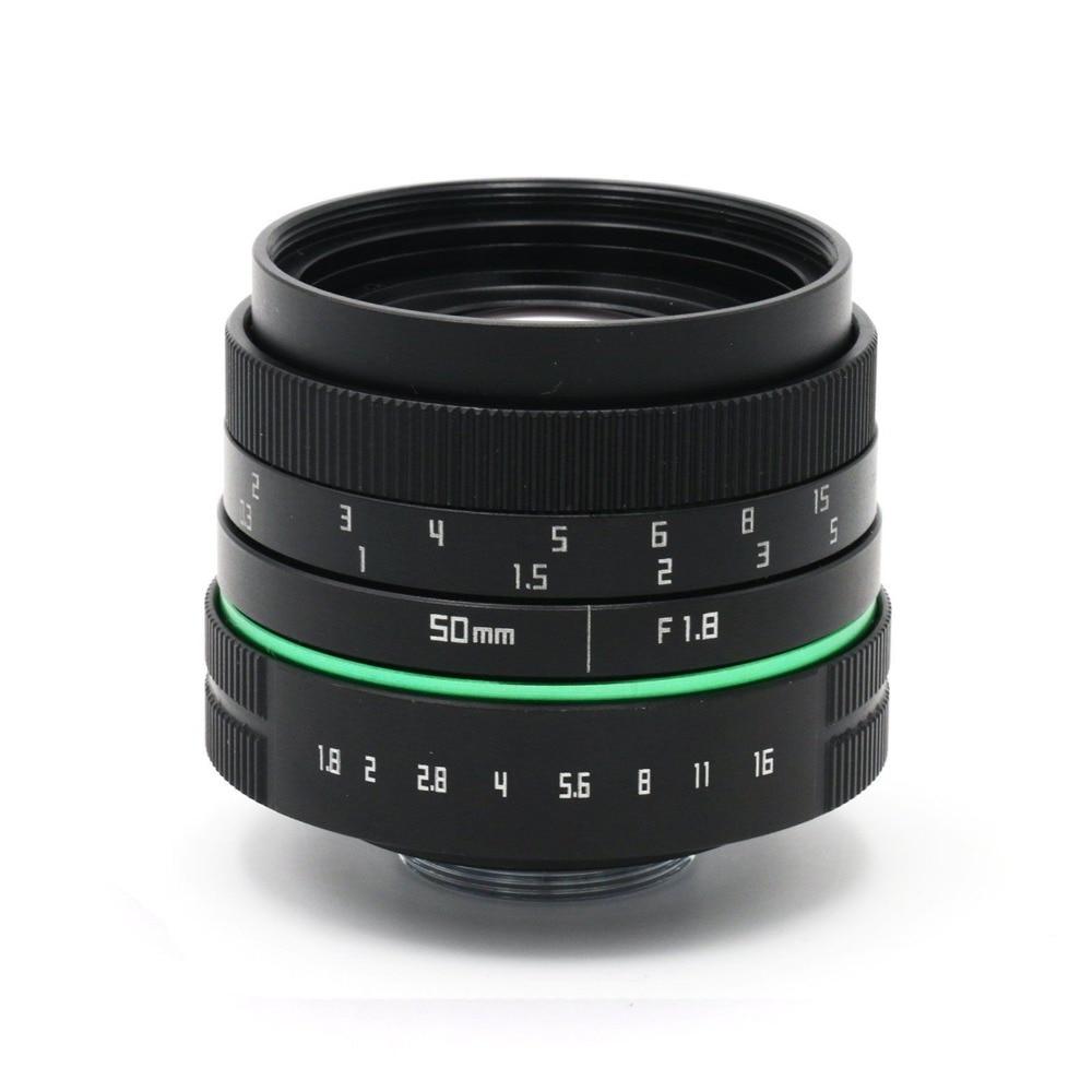 50mm f/1.8 C-Mount Lens for APS-C sensor Sony E NEX-7 NEX5T NEXR 6 A5100 A6000 A5000 A3000 A6500 A6300 new arrive aps c 8mm f2 8 fish eye lens e mount lens for sony nex 6 7 a5000 a6000 free shipping