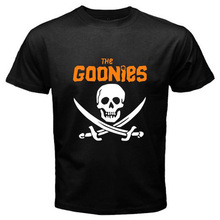 """New Arrival Man Printed T-Shirt 2017 Casual Tees Shirt THE GOONIES Retro TV Movie """"Never Say Die"""" Men's T-Shirt Cotton Short"""