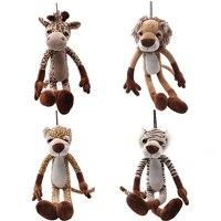 1 adet 40-80 cm Sevimli Orman Hayvanlar Peluş Oyuncaklar Aslan Kaplan Zürafa Leopad Bebekler Çocuklar için Yaratıcı Hediye çocuk Hediyelik Oyuncaklar