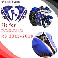 KODASKIN Motorcycle Body sticker Decal Emblem for YAMAHA R3 2015 2018