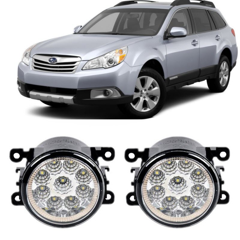 Car-Styling For Subaru Outback 2010 2011 2012 9-Pieces Led Fog Lights H11 H8 12V 55W Fog Head Lamp car modification lamp fog lamps safety light h11 12v 55w suitable for mitsubishi triton l200 2009 2010 2011 2012 on