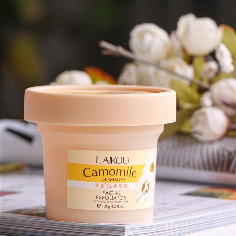 LAIKOU Facial Scrub Removal Natural And Organic Facial Exfoliator Exfoliating Cream 120g Whitening Peeling Cream Gel Face Pores 5