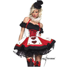 Adult Queen Cosplay Costume Fancy Dress Sexy Girl Costume Female Poker  Queen Cosplay Halloween Party Dresses 2e3d670cc715
