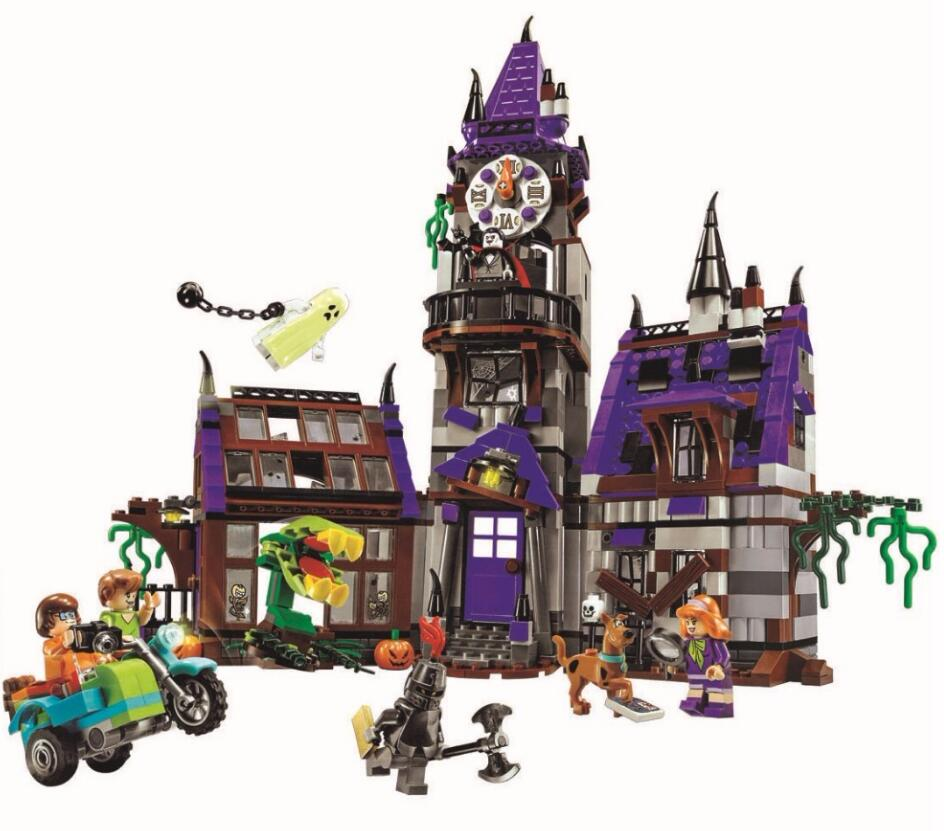 2018 New 10432 10431 Scooby Doo Mysterious Ghost House 860pcs Building Toys Compatible 75904 Blocks For Children Gift 10432 scooby doo mysterious ghost house mode building blocks educational toys 75904 for children christmas gift legoingse toys