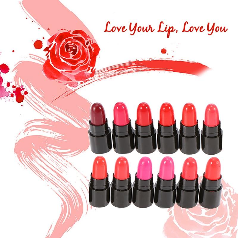 цены 12Pcs Women Liquid Lipstick Batom Lip Kit Set Rouge A Levre Matte Makeup Lip Balm Mini Lip Gloss Long Lasting Waterproof Bright