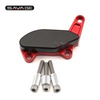 Per Ducati Monster 1100/S/EVO 1200/S Rosso/Argento Moto Accessori Pompa Dell'acqua Protezione Alternatore Guar