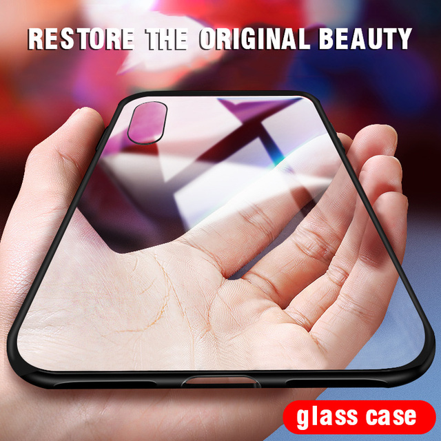 iiozo luxury tempered glass phone case for iphone x anti scratch high transparency full glass