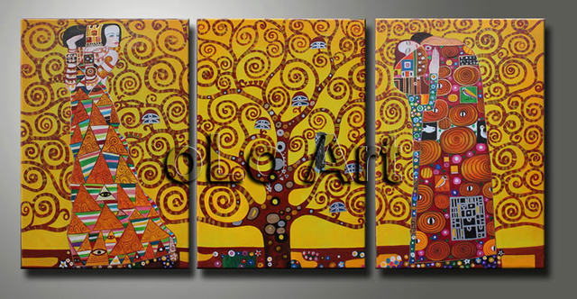 Room decoration canvas Art Oil painting,The Tree of Life Gustav ...