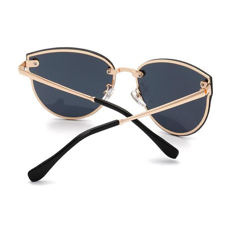 NUEVA Moda Gótica Del Ojo de Gato gafas de Sol de Marco de Metal ...