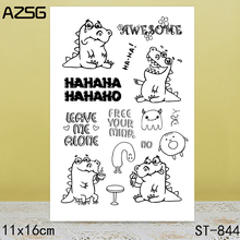 AZSG Cute Crocodile Clear Stamps/Seals For DIY Scrapbooking/Card Making/Album Decorative Silicone Stamp Crafts