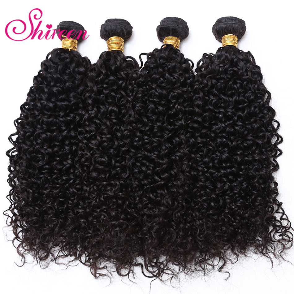 shireen Afro Kinky Curly Hair for a pc 100g Natural Color 8-28inch Brazilian Hair Non-re ...