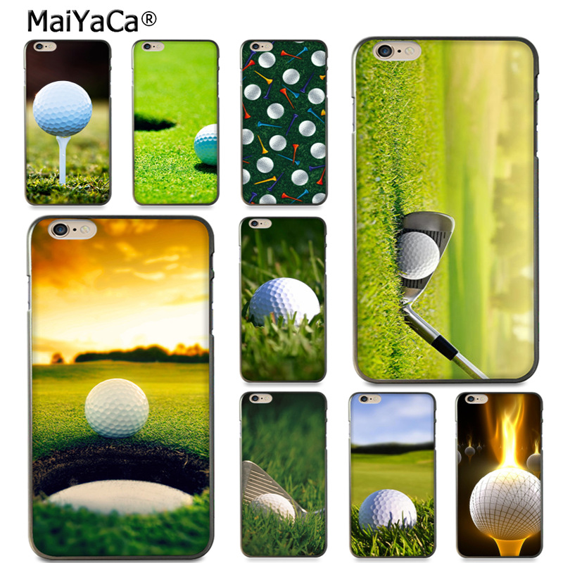 MaiYaCa greatest Golf Balls sport black silicone soft tpu Phone Case for Apple iPhone 8 7 6 6S Plus X 5 5S SE 5C case Cover