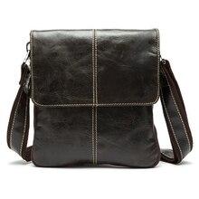 Can Custom Name Fashion Men Bag Leather Crossbody Shoulder Messenger Bags Small Casual Designer