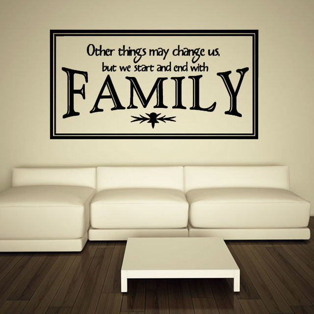 Family Other Things May Change Us English Words Decal Vinyl Art Home Decor Family  Wall Sticker