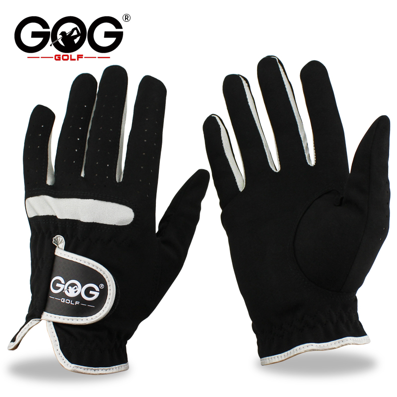 Men's Golf Gloves Brand GOG GOLF Micro Soft Fiber Left Right Hand Golf Glove Color Black Free Shipping цена