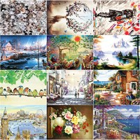 1000 Pieces Wooden Paper Jigsaw Puzzles Landscape Adult 11 Type World Painting Educational Puzzle Toys Christmas New Year Gift
