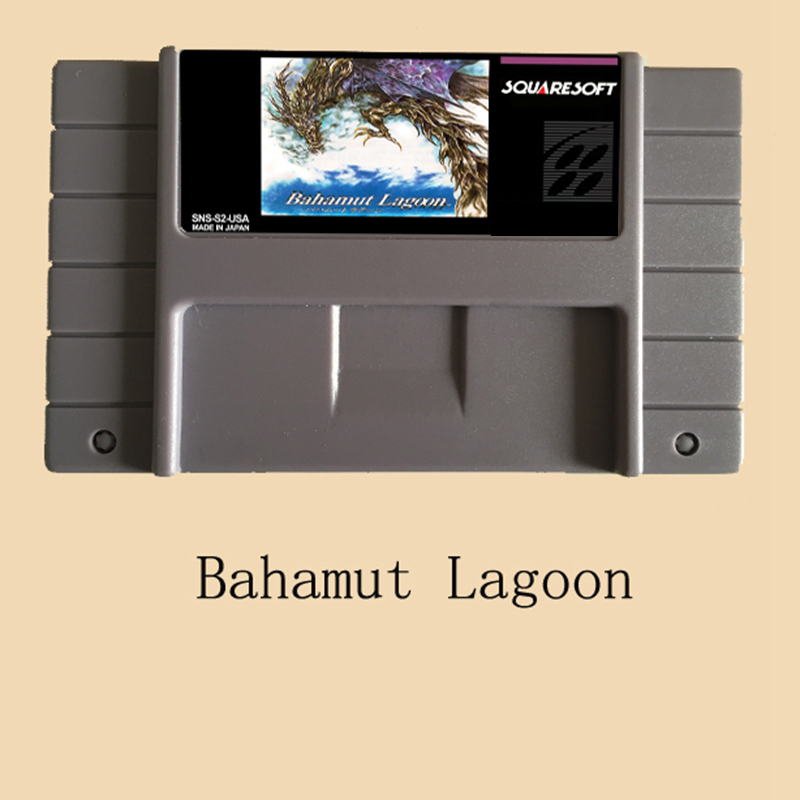 Bahamut Lagoon 16 bit Big Gray Super Game Card For NTSC/PAL Game Player