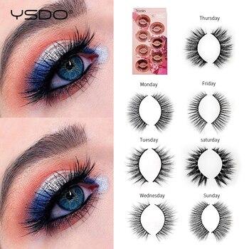YSDO 7 pairs mink eyelashes natural false eyelashes fluffy lashes eyelash extension 3d mink lashes volume lashes cilios makeup