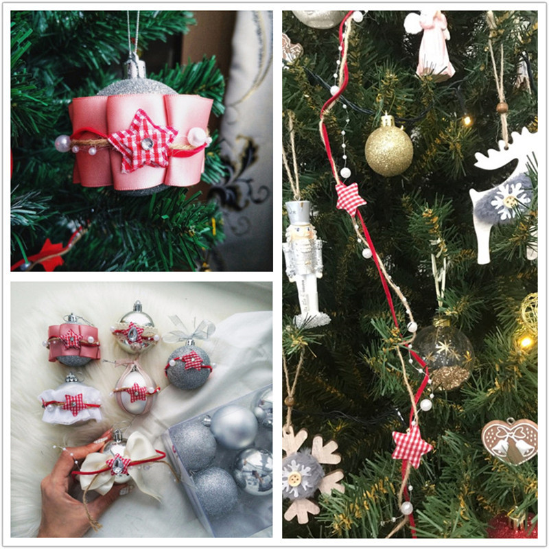 Christmas Decorations Chain Ribbon Christmas Tree DIY Star Merry Christmas Party Decor Supplies Happy New Year For 2019 in Banners Streamers Confetti from Home Garden